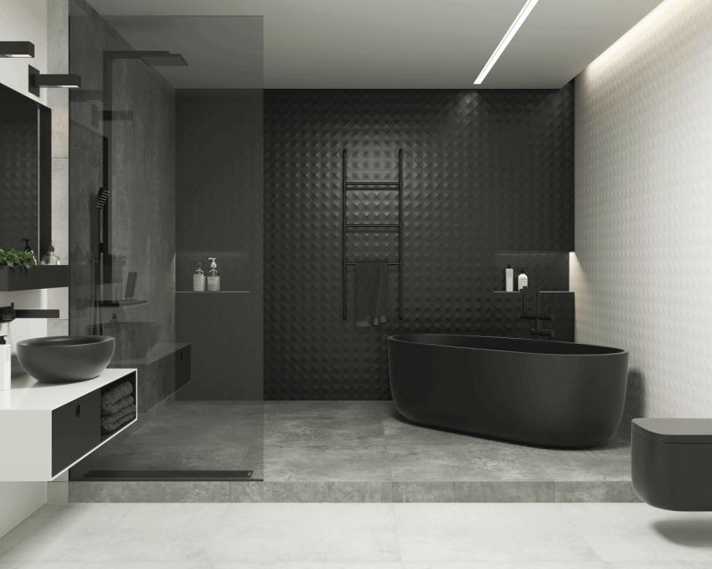5 идей плитки для темной ванной комнаты, красиво и элегантно